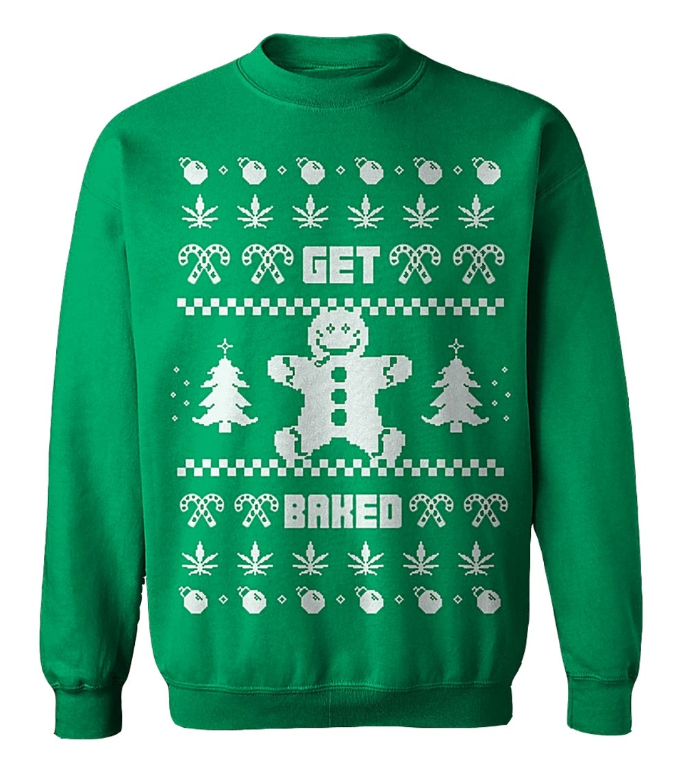 Lucky Bastards - Get Baked Ugly Christmas Sweater