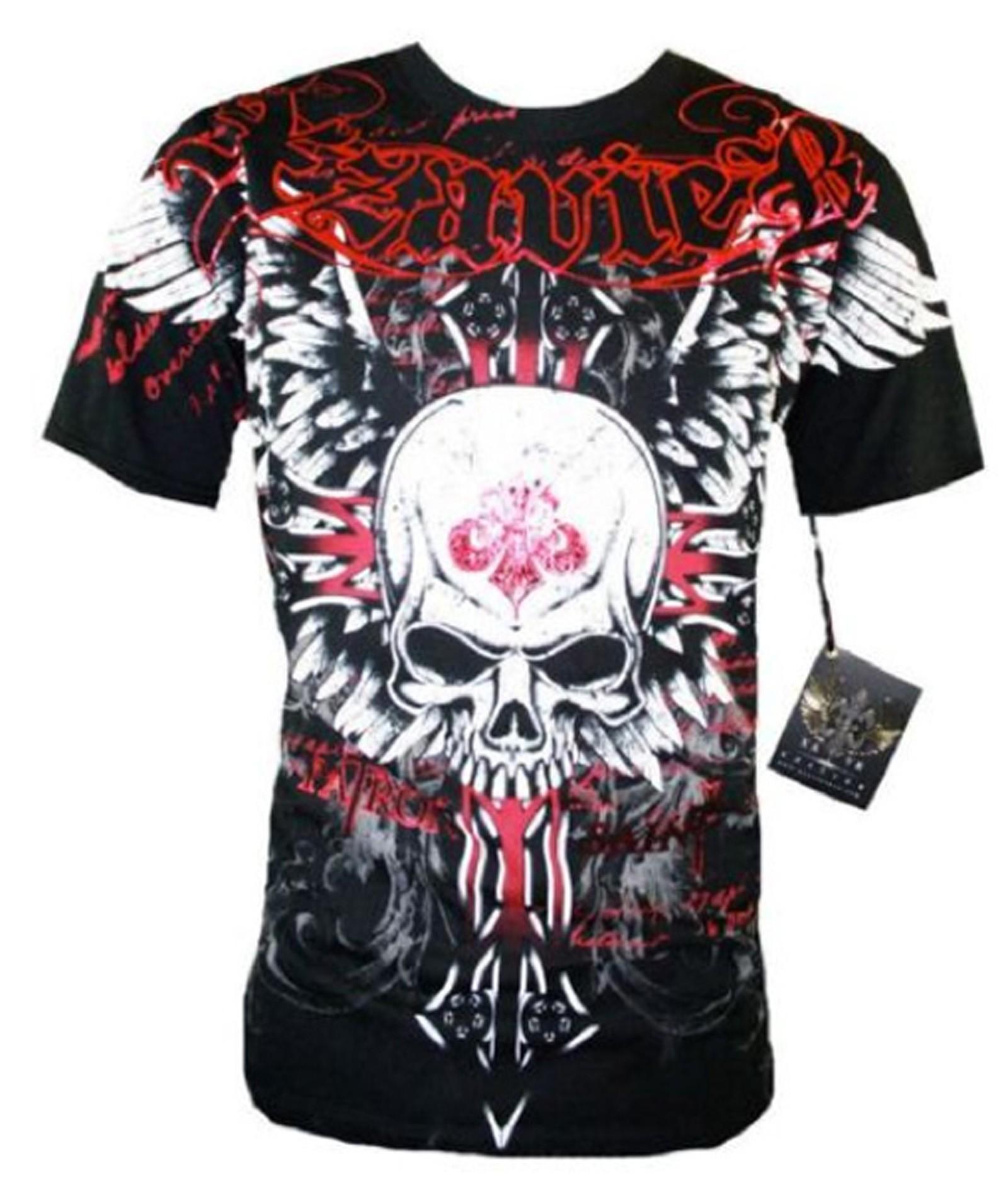 Xzavier - Unforgiven Skull T-Shirt Front