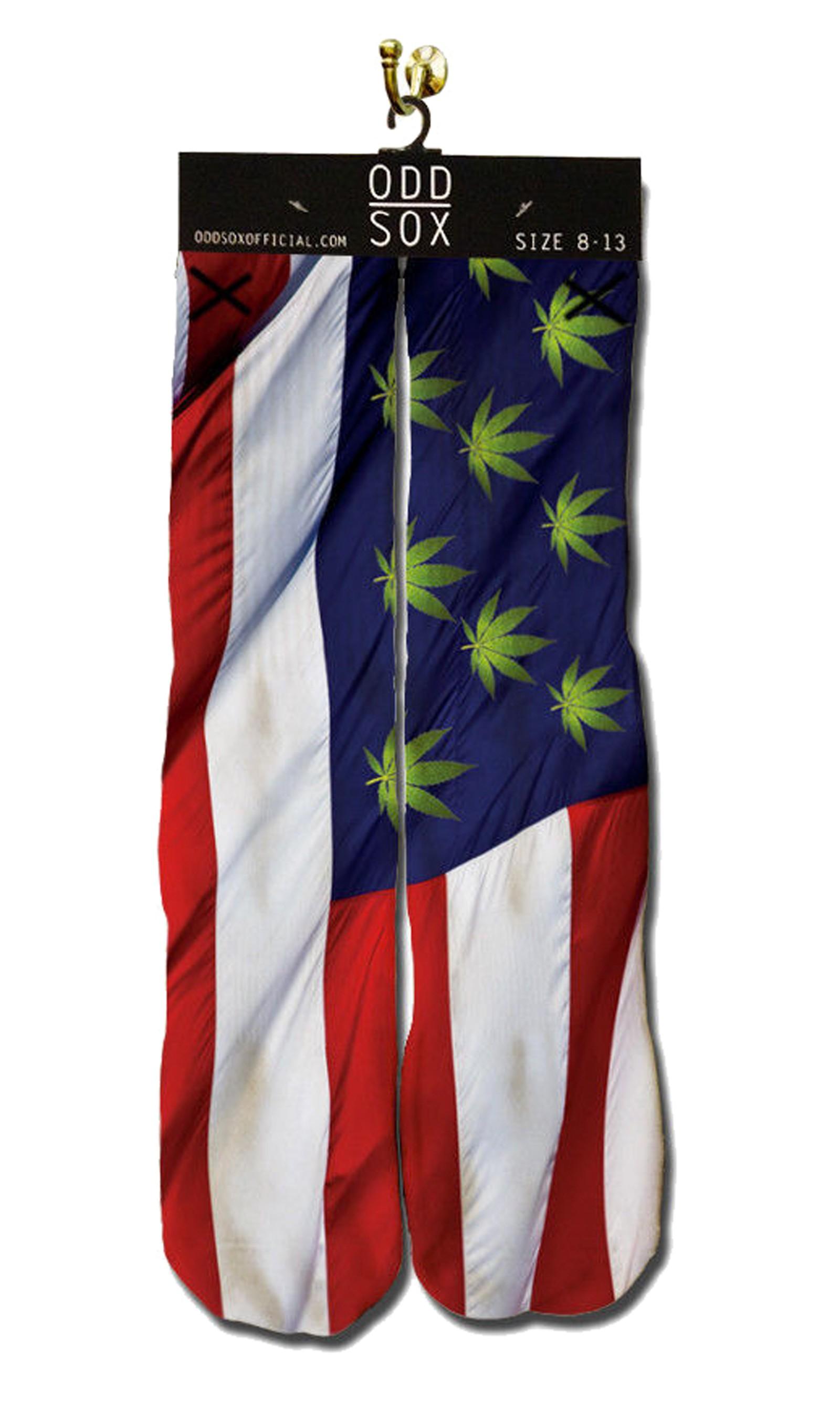 ODD Sox - USA Weed Socken Front