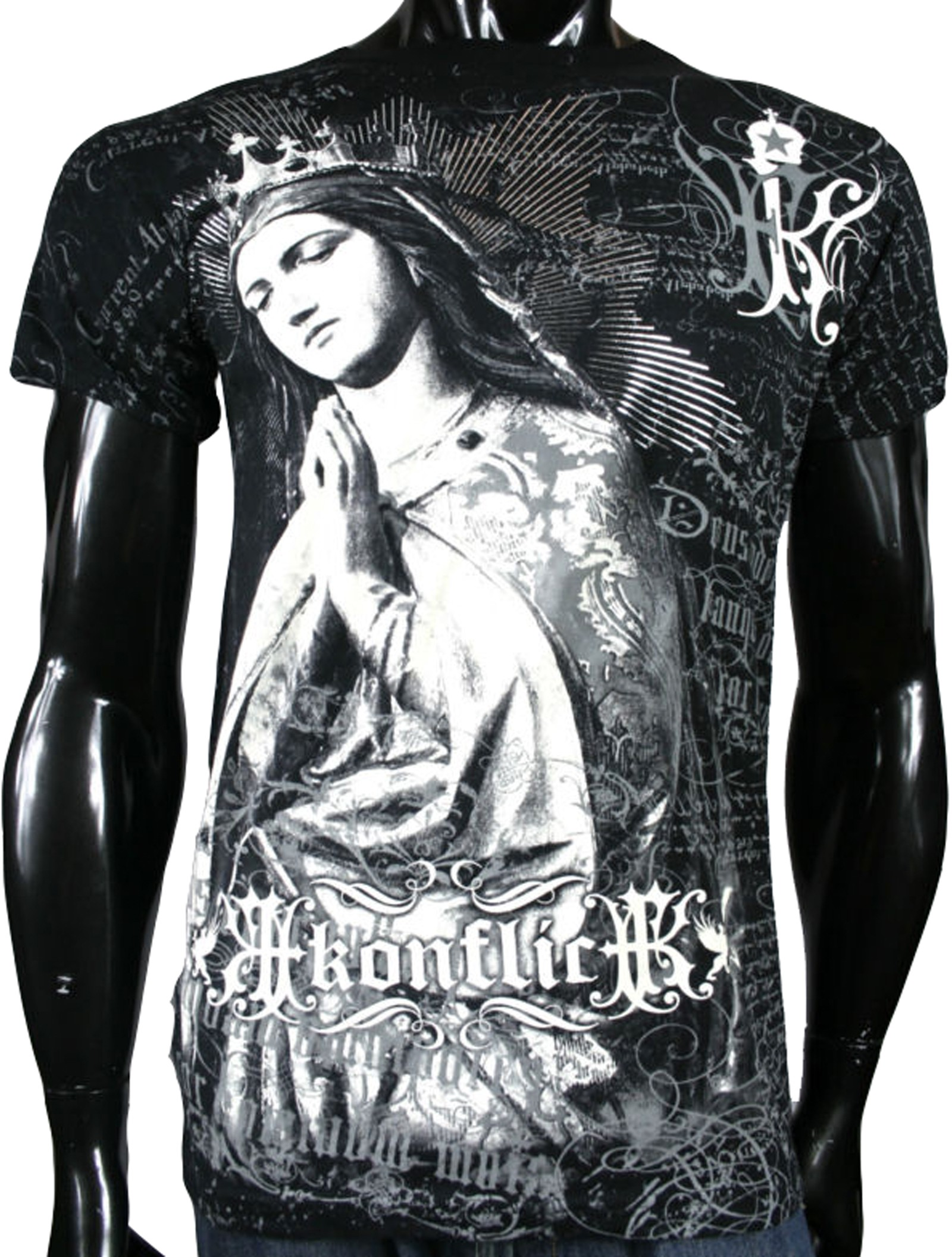 Konflic Clothing - Virgin Mary T-Shirt Front