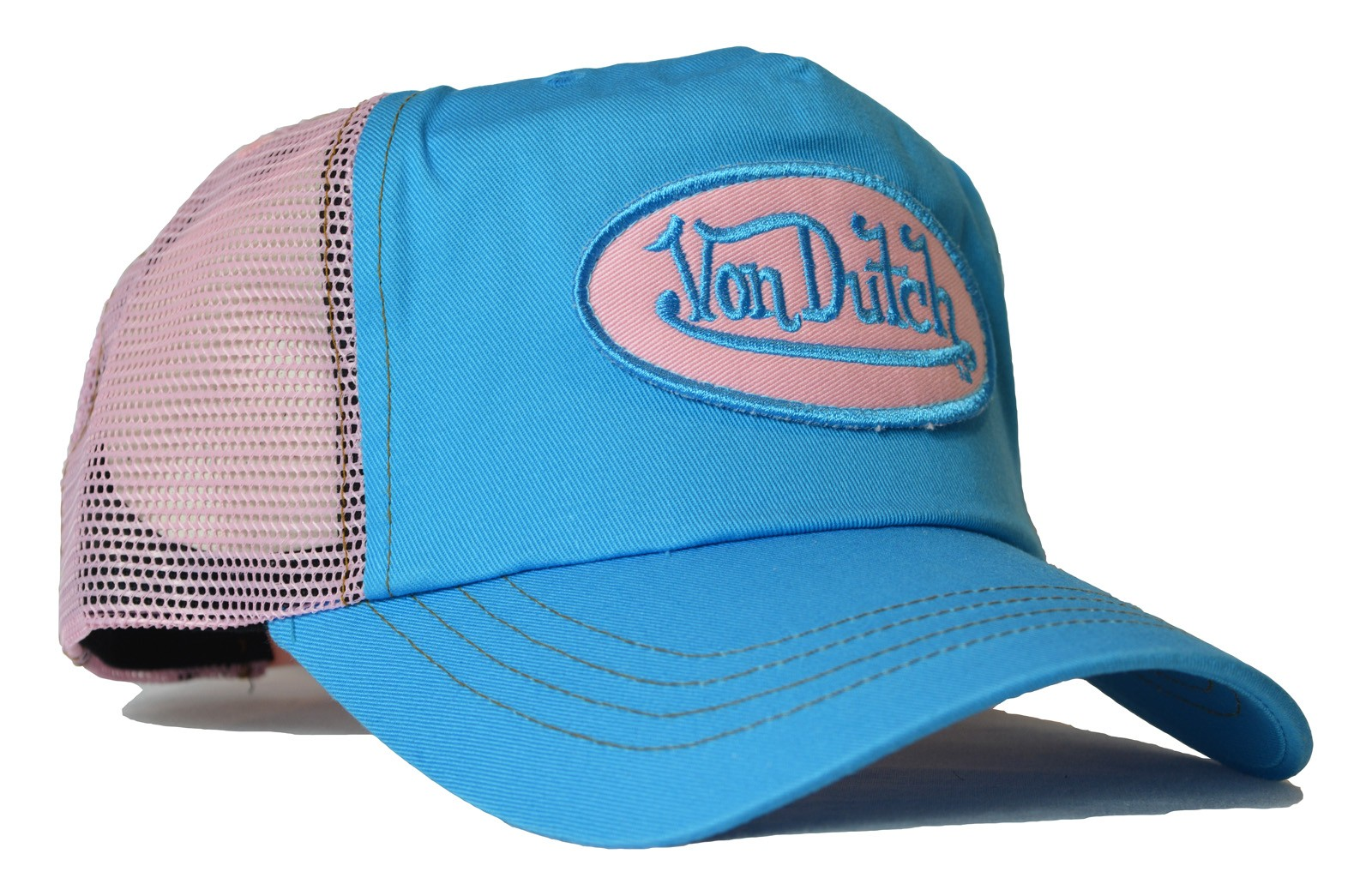 Von Dutch - Classic Blue/Pink Mesh Trucker Cap