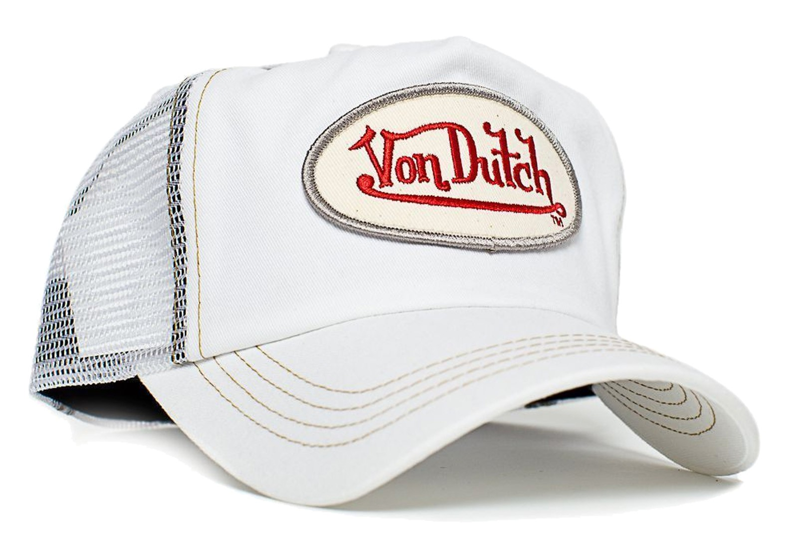 Von Dutch - Classic White/White Mesh Trucker Cap