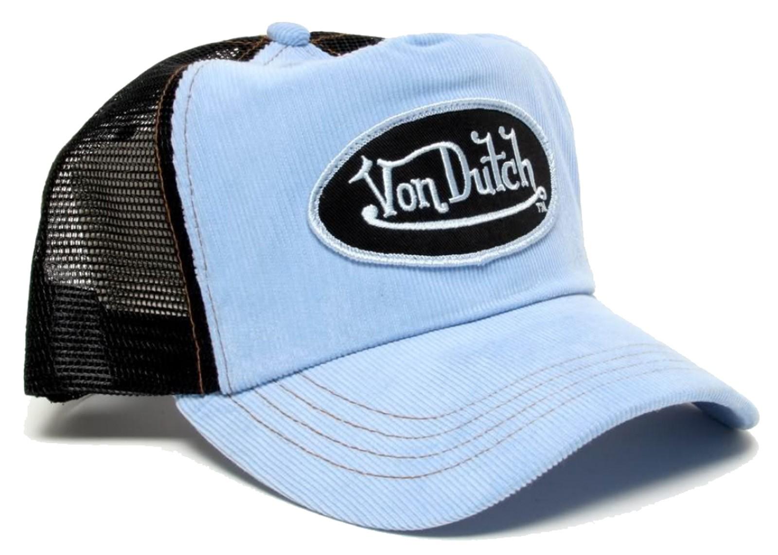 Von Dutch - Cord Blue/Black Mesh Trucker Cap