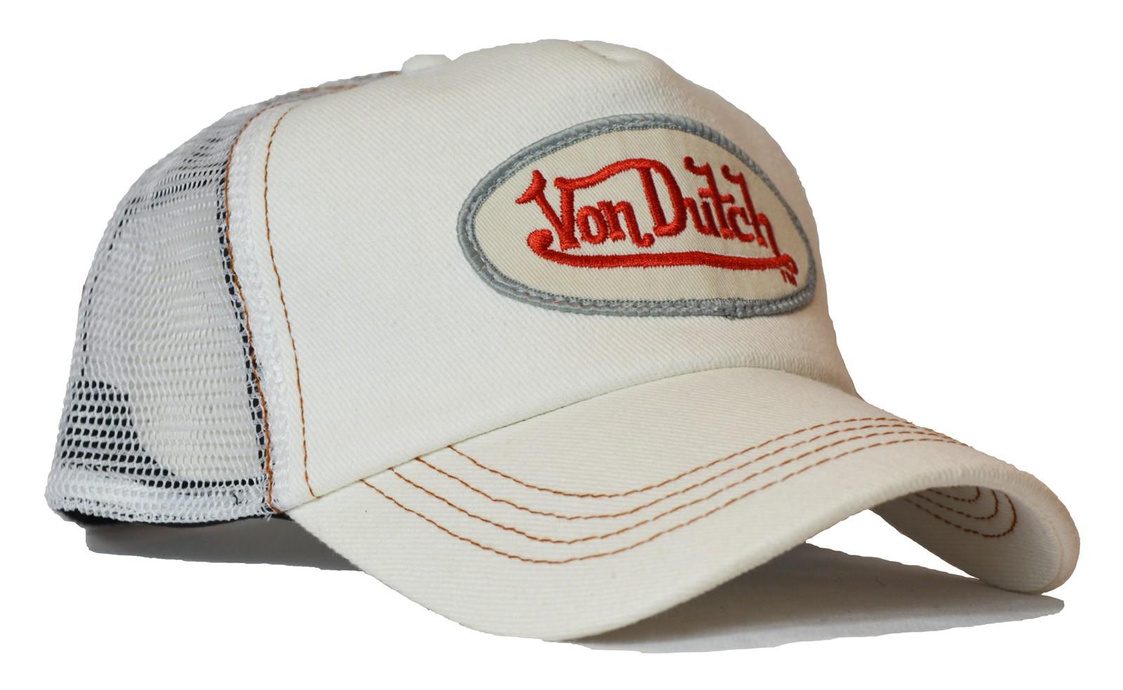 Von Dutch - Denim White/White Mesh Trucker Cap