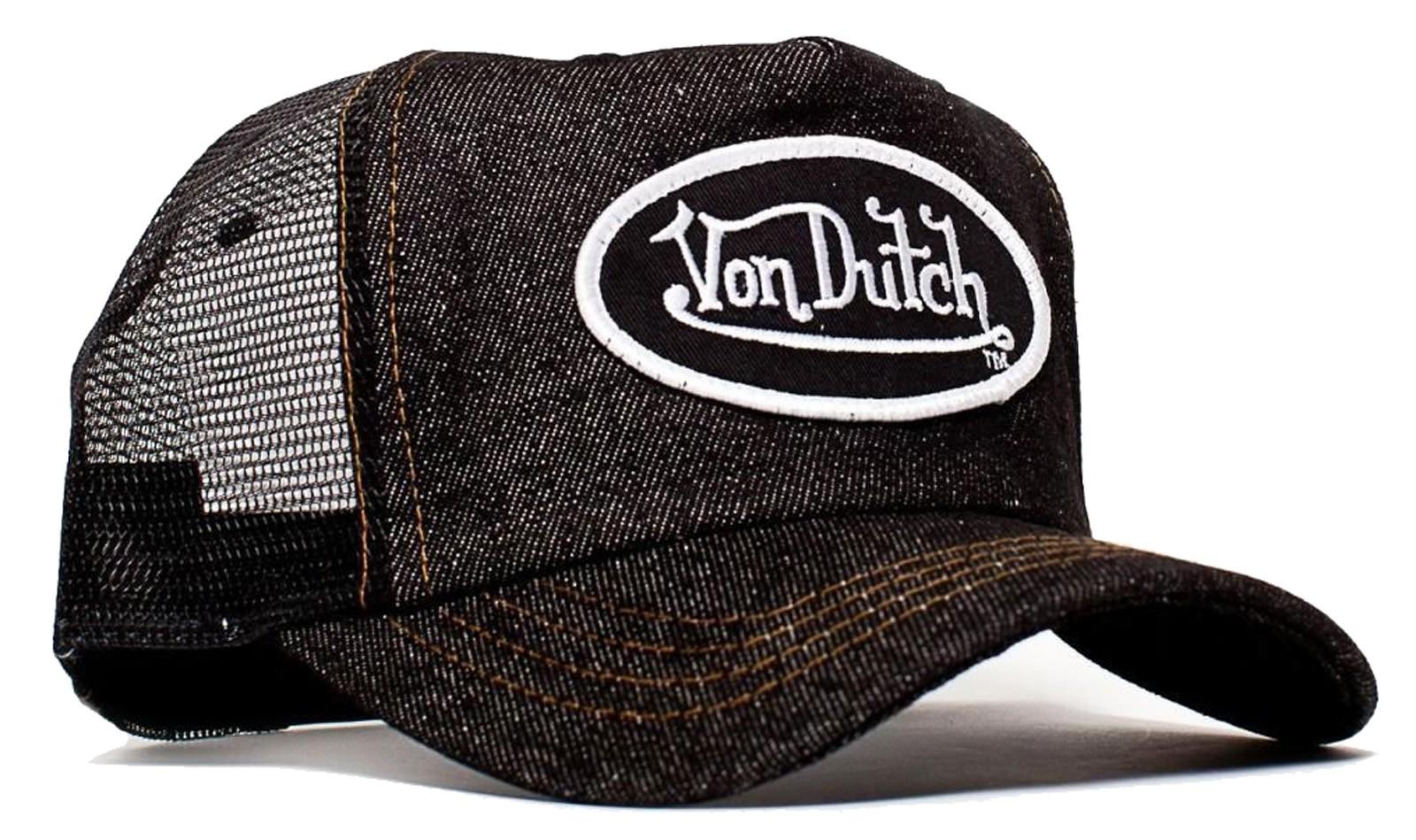 Von Dutch Denim Mesh Trucker Cap