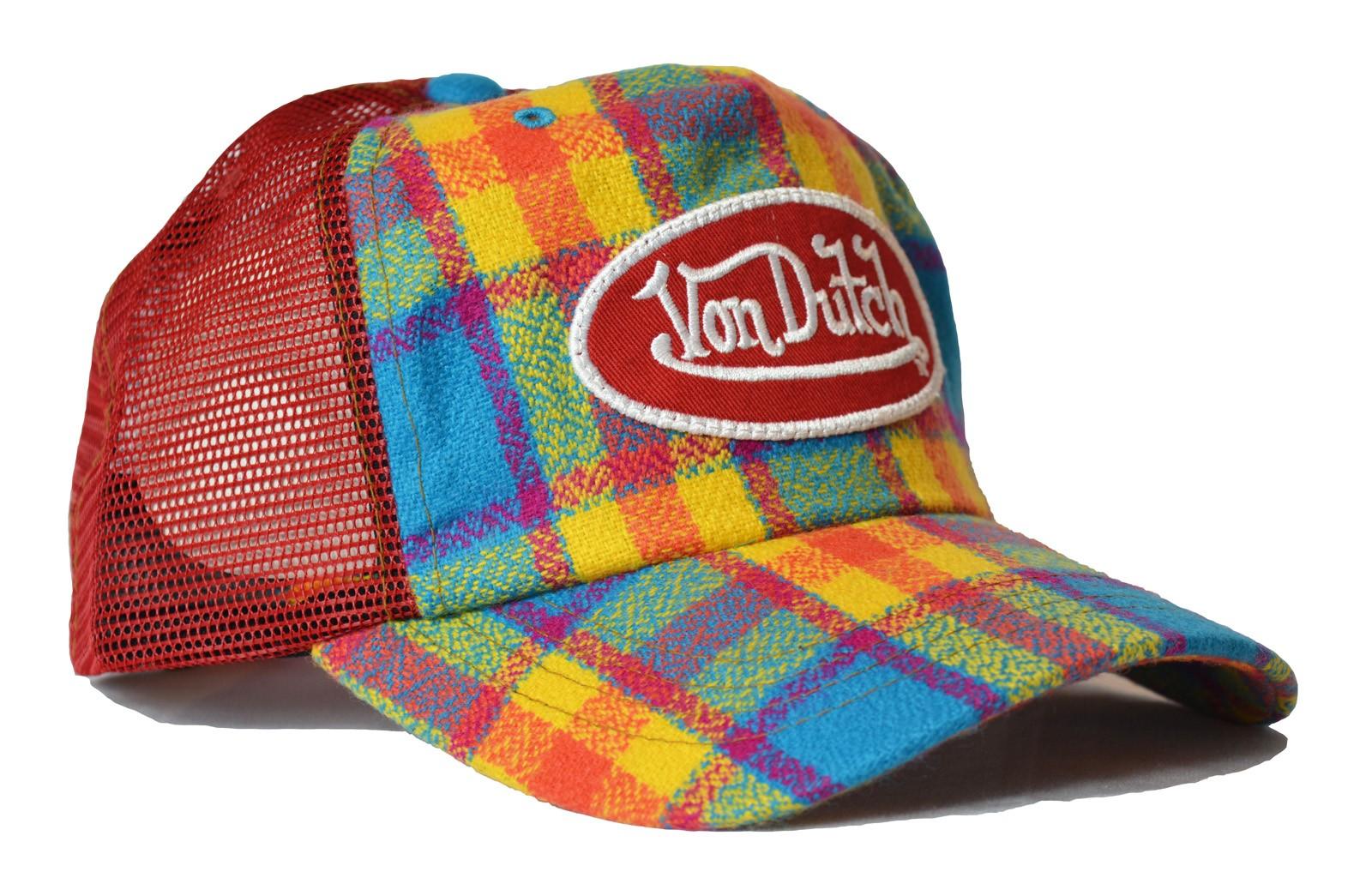 Von Dutch - Flannel Mesh Trucker Cap