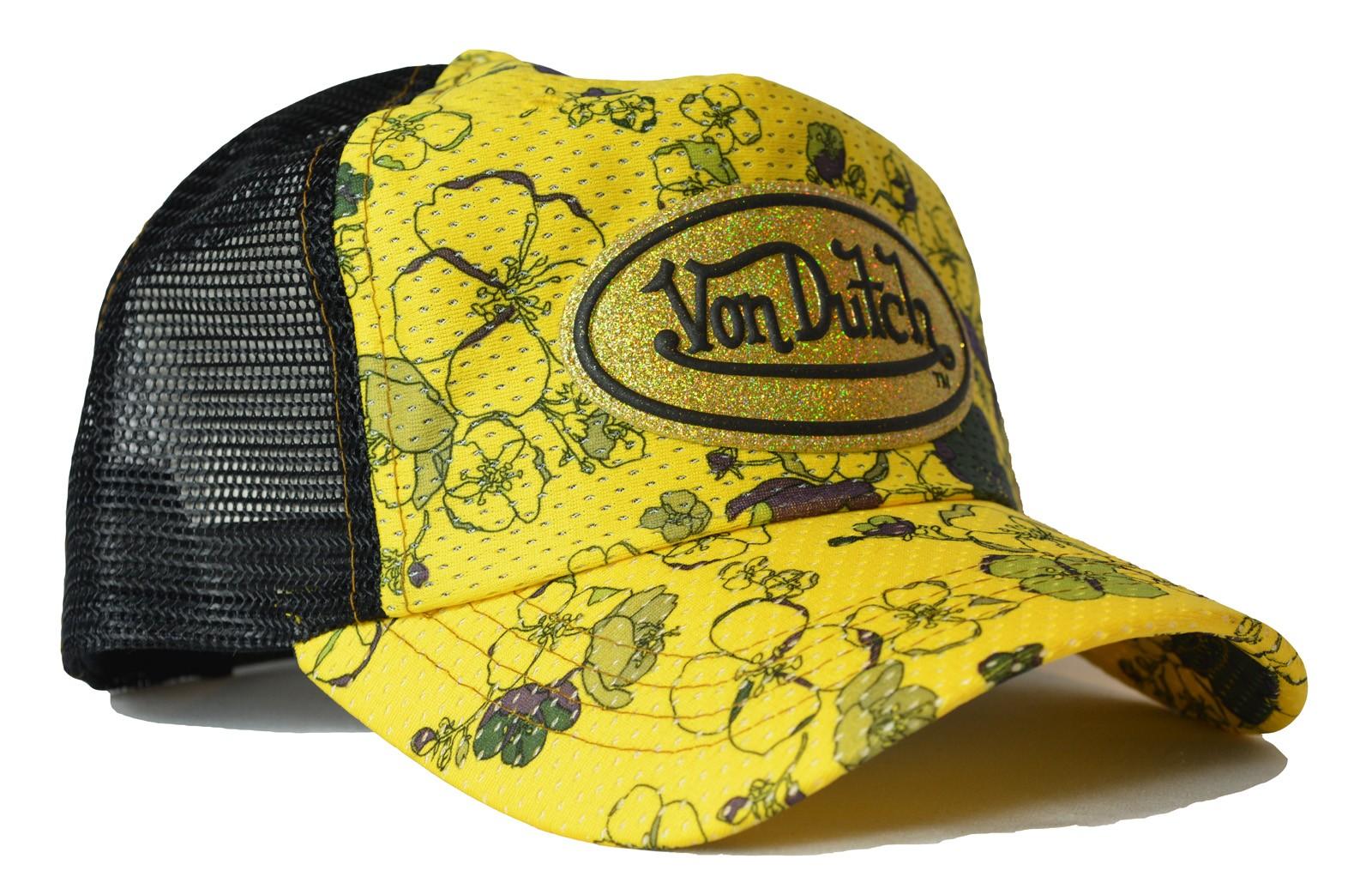 Von Dutch - Flowers Yellow/Black Trucker Cap