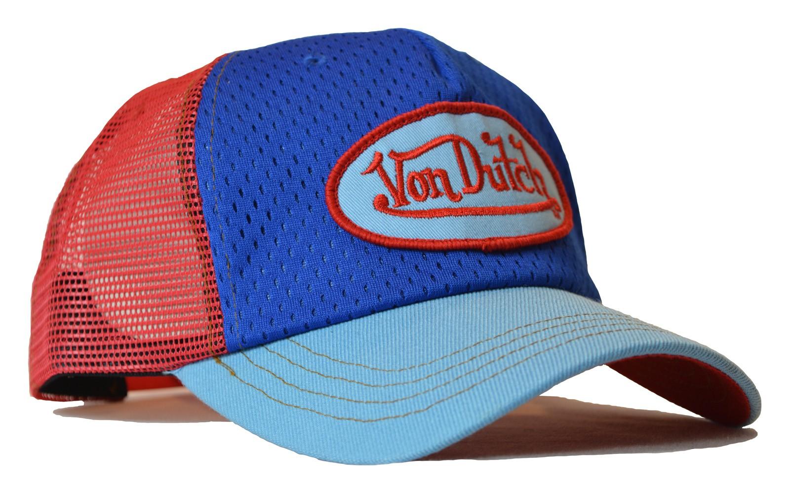 Von Dutch - Jersey Blue/Red Mesh Trucker Cap
