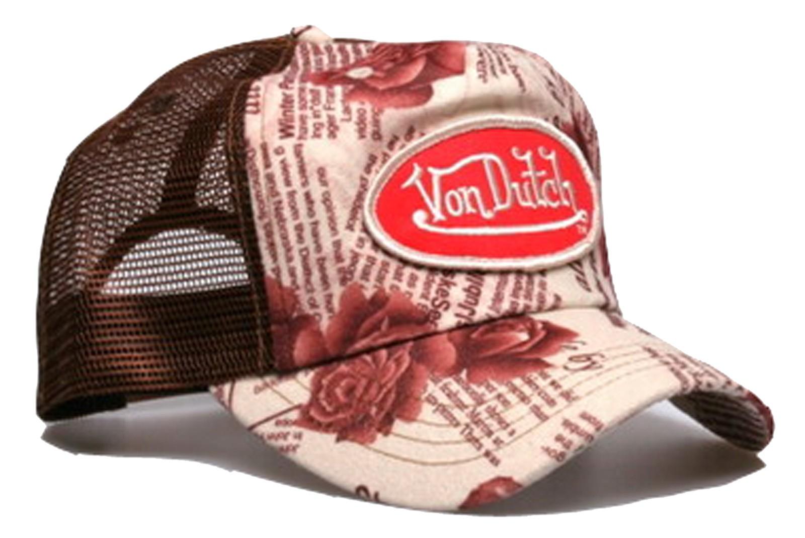 Von Dutch - Khaki Rose Mesh Trucker Cap