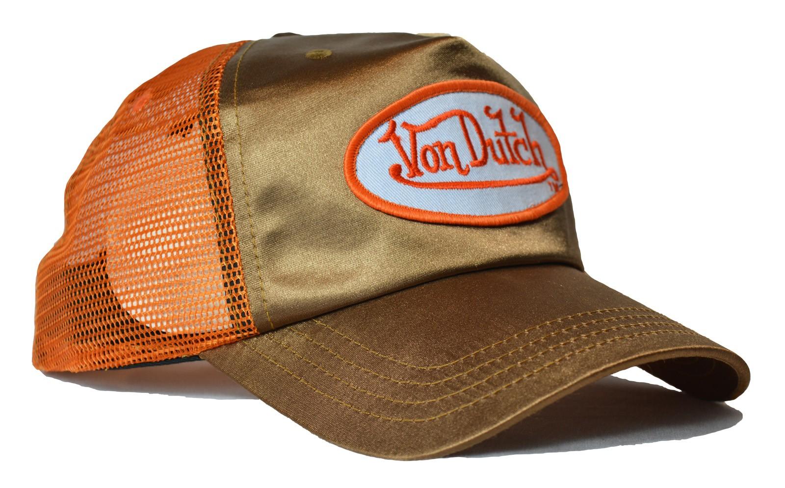 Von Dutch - Metallic Gold/Orange Trucker Cap
