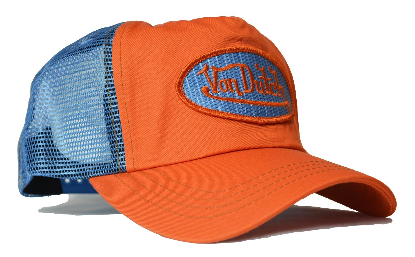 Von Dutch - Classic Orange/Blue Mesh Trucker Cap