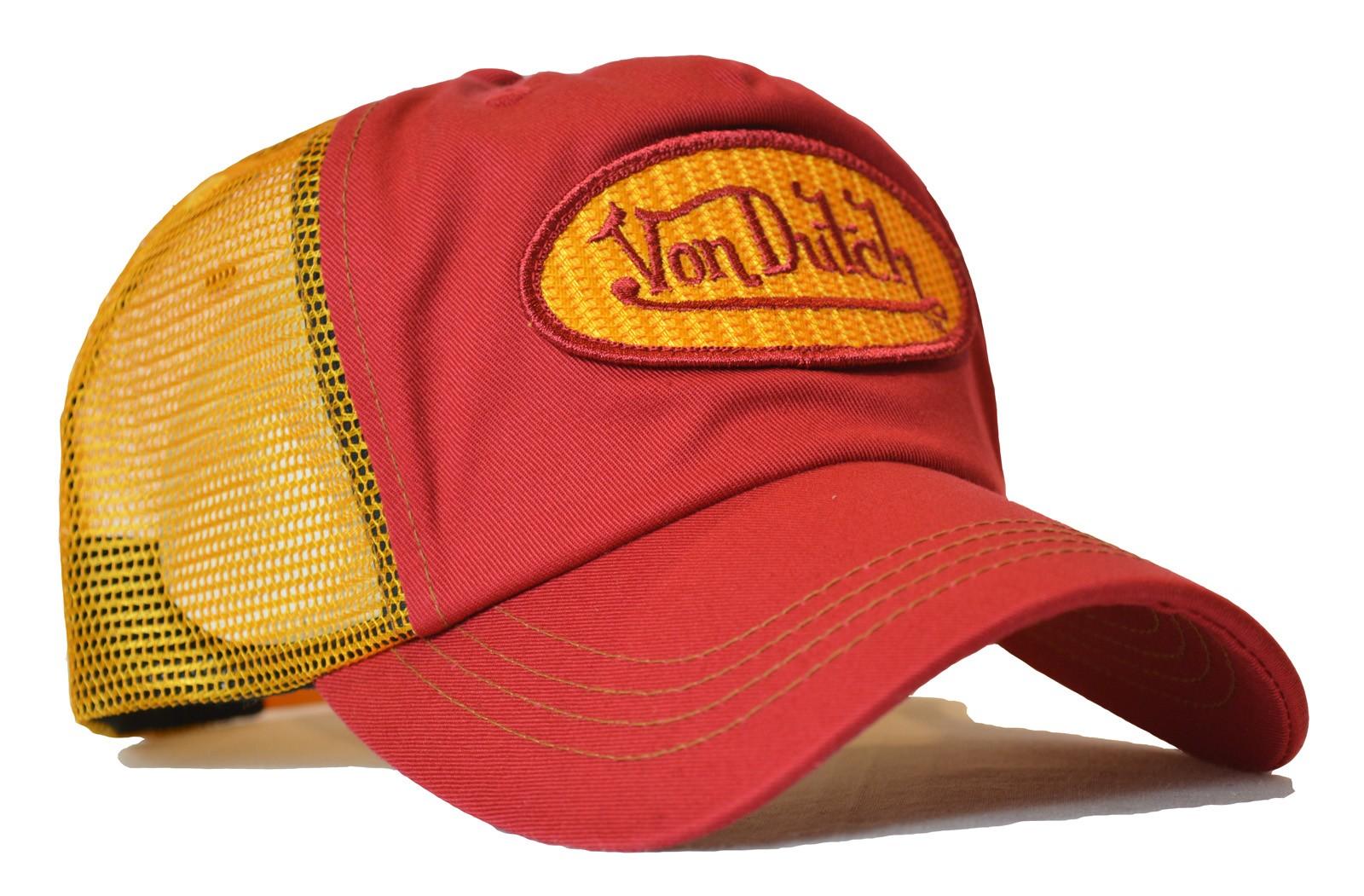 Von Dutch - Classic Red/Yellow Mesh Trucker Cap