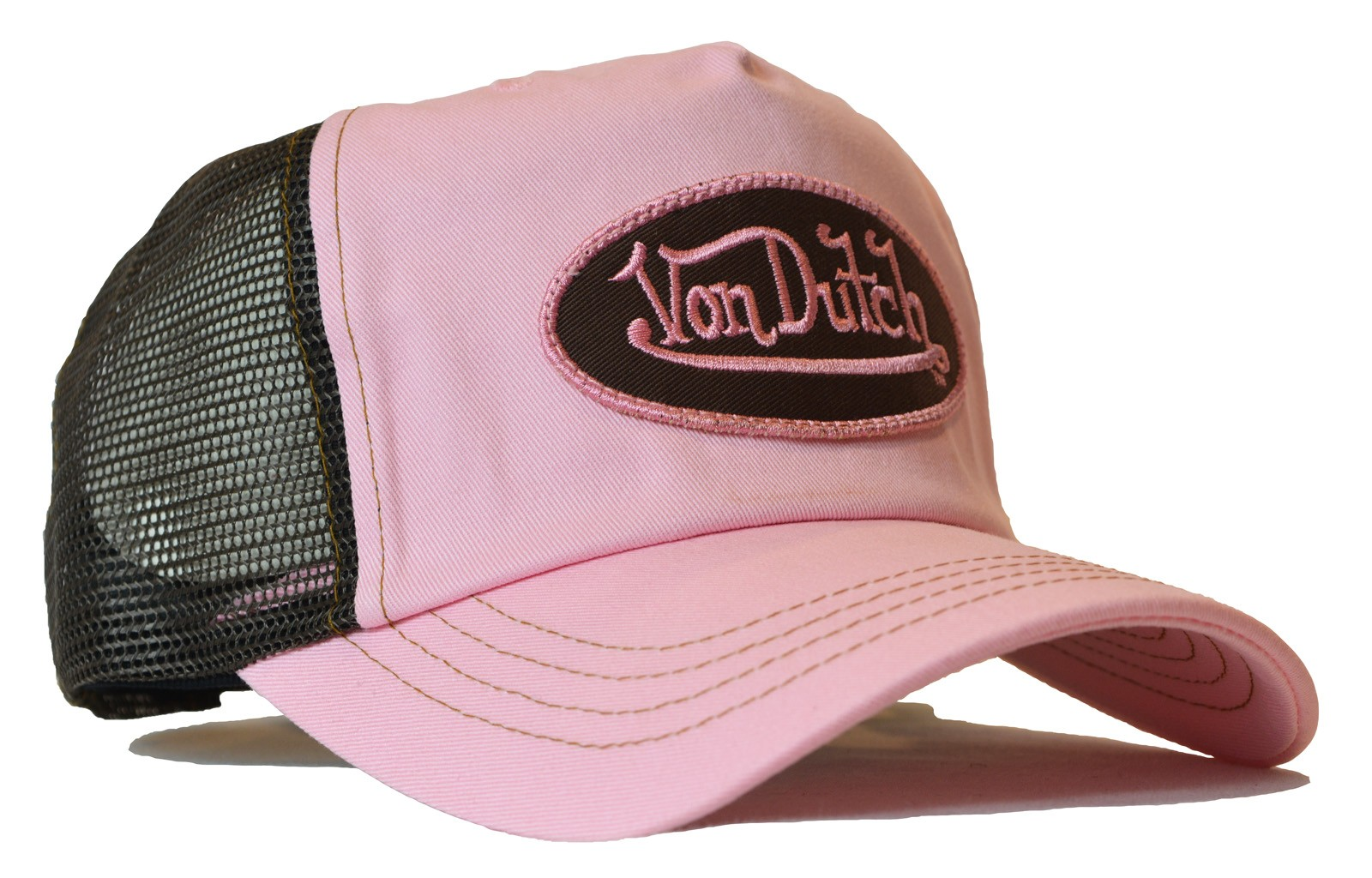 Von Dutch - Classic Pink/Brown Mesh Trucker Cap
