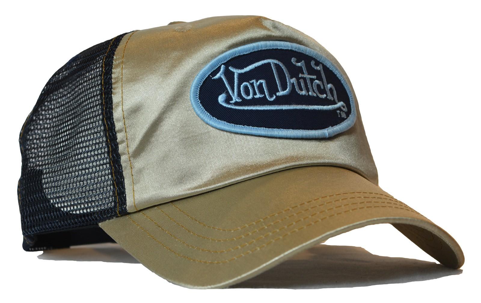 Von Dutch - Satin Gold/Black Mesh Trucker Cap