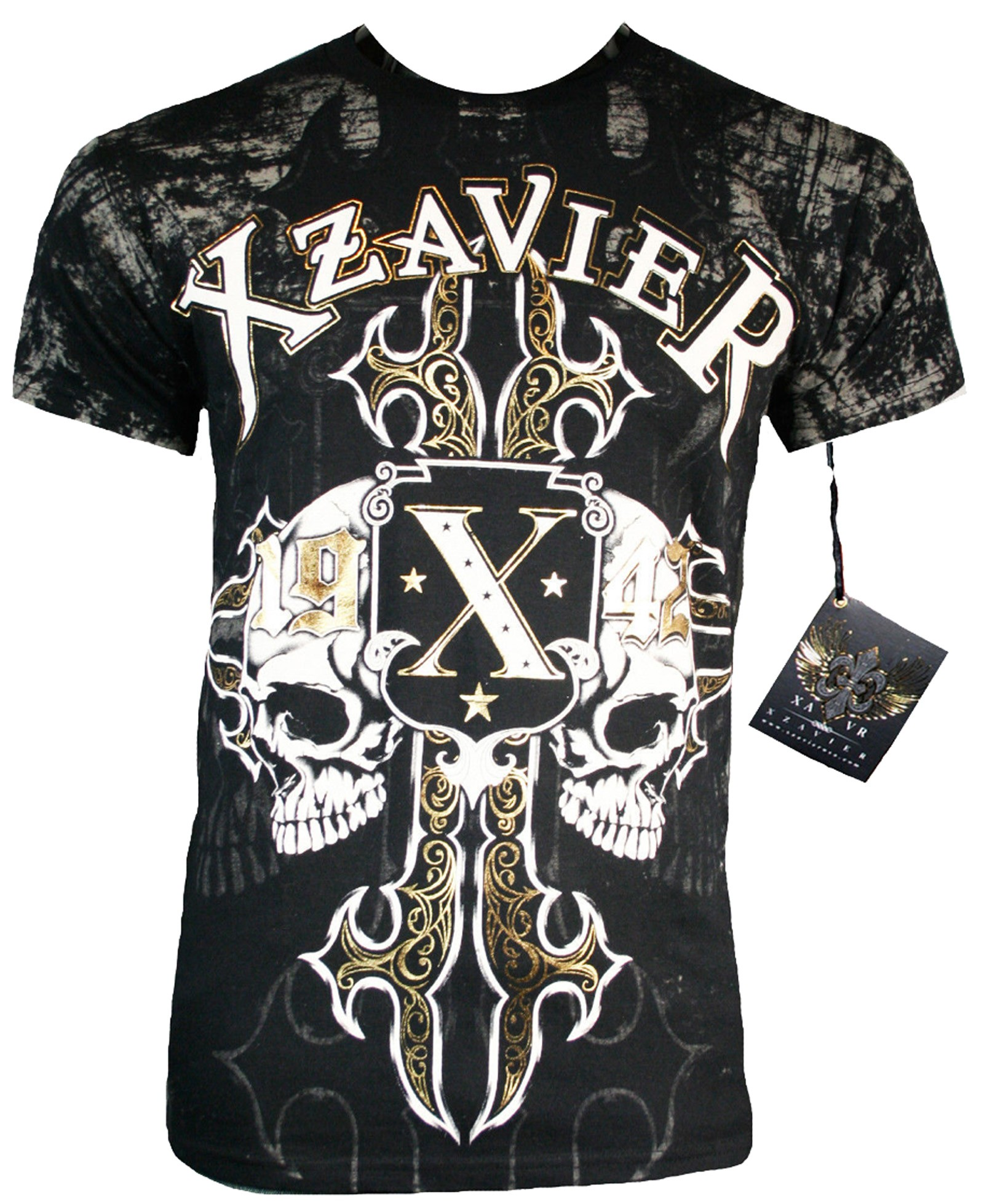 Xzavier - War Skulls T-Shirt Front