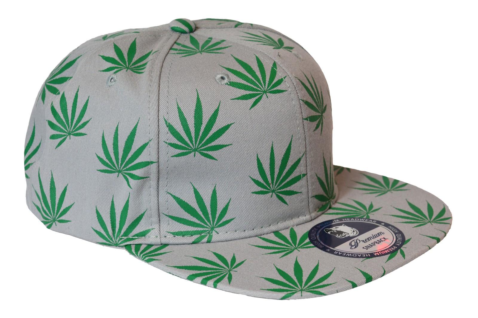Premium - Weed Visor Snapback Cap-grau
