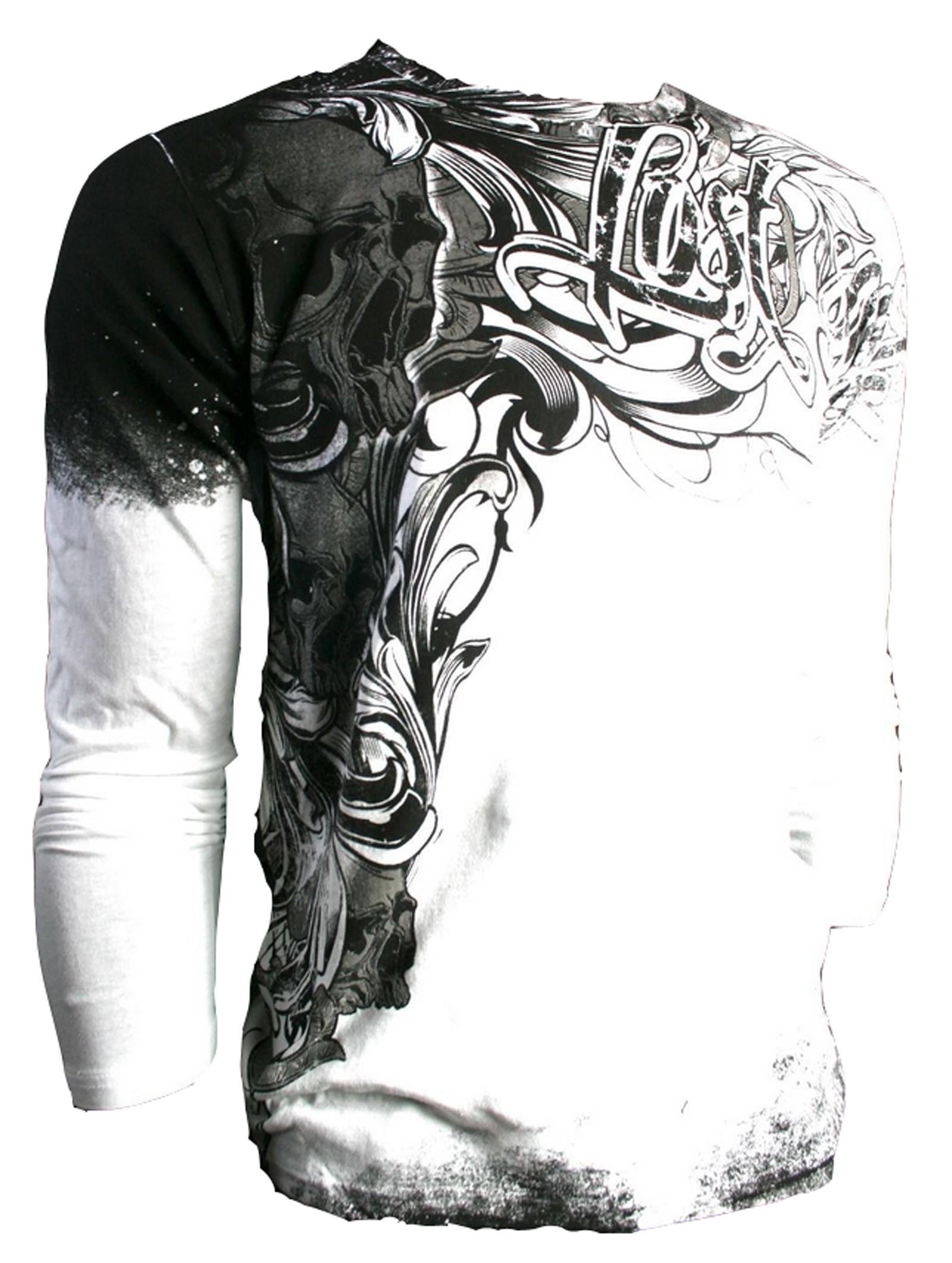 Xzavier - Lost Soul Skull Longsleeve T-Shirt