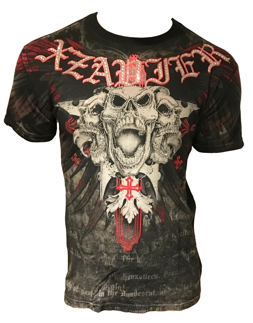 Xzavier - Triple Death Rhinestones/Strass T-Shirt