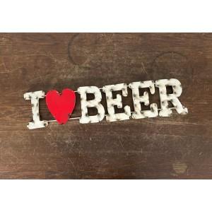 I LOVE Beer XL 3D Schild