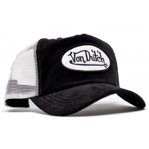 Von Dutch - Cord Black/White Mesh Trucker Cap