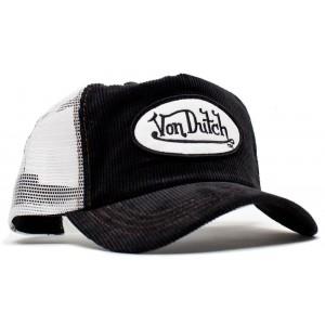 Von Dutch - Cord Black/White Mesh Trucker Cap