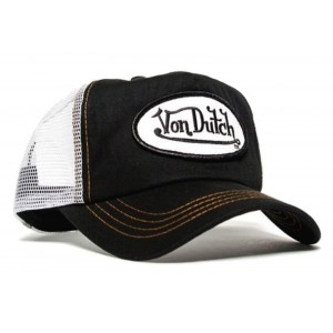 Von Dutch - Classic Black/White Mesh Trucker Cap