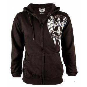 Xzavier - Blue Wings Zipper Hoodie Front