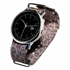 Cheapo Brand - Harold Black Dial Leopard Grey Strap Armbanduhr