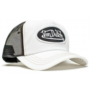 Von Dutch - Classic White/Black Mesh Trucker Cap