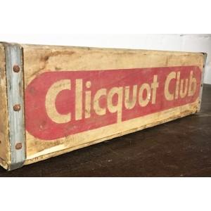Original Soda Crate - Clicquot Club Getränkekiste