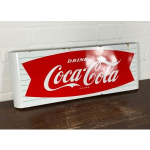 Original USA Schild - Coca Cola Fishtail Sled Emailleschild