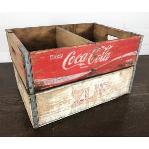 Original Soda Crate Set - Coca Cola & Seven UP