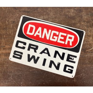 Original USA Schild - Danger Craine Swing Blechschild
