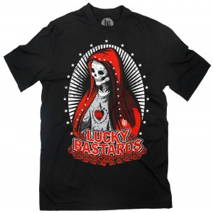 Lucky Bastards - Deliver Us from Evil T-Shirt Front
