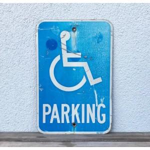 Original USA Schild - Disabled Parking Verkehrsschild