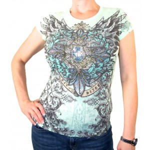 Angels & Diamonds - Envy The Thorns Strass T-Shirt Front