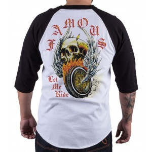 Famous Stars and Straps - Let me Ride Raglan T-Shirt