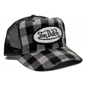Von Dutch - Flannel Mesh Trucker Cap Front