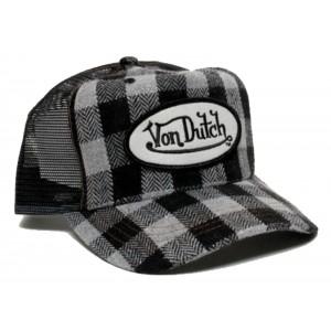 Von Dutch - Flannel Mesh Trucker Cap Front