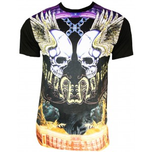 Xzavier - Flying Skulls T-Shirt Front
