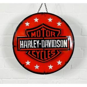 Harley Davidson Motorcycles Stars 3D Blechschild