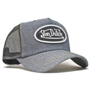 Von Dutch - Herringbone Denim Mesh Trucker Cap