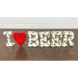 I LOVE Beer XL 3D Schild