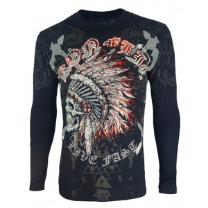 Konflic Clothing - Chief Skull Longsleeve T-Shirt