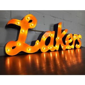 Lakers XXL 3D Schild mit Beleuchtung