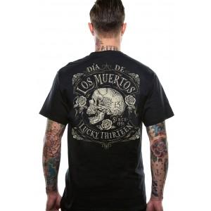 Lucky 13 - Los Muertos/ Dead Skull T-Shirt