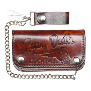 Lucky 13 - Death Racer Leather Wallet