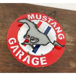 Mustang Garage 3D Schild