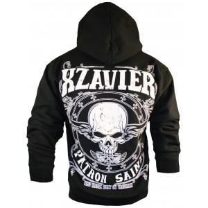 Xzavier Skull Patron Saint Zipper Hoodie Back