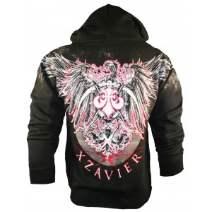 Xzavier Phoenix Wings Zipper Hoodie Back